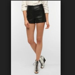 Sparkle and Fade Leather Shorts